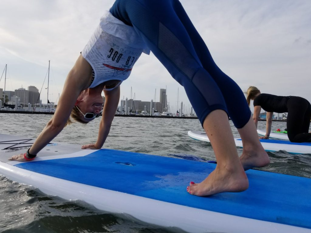 Paddleboard yoga with WaterDog.cc