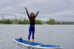 Spring Break Corpus Christi - SUP yoga with Water Dog
