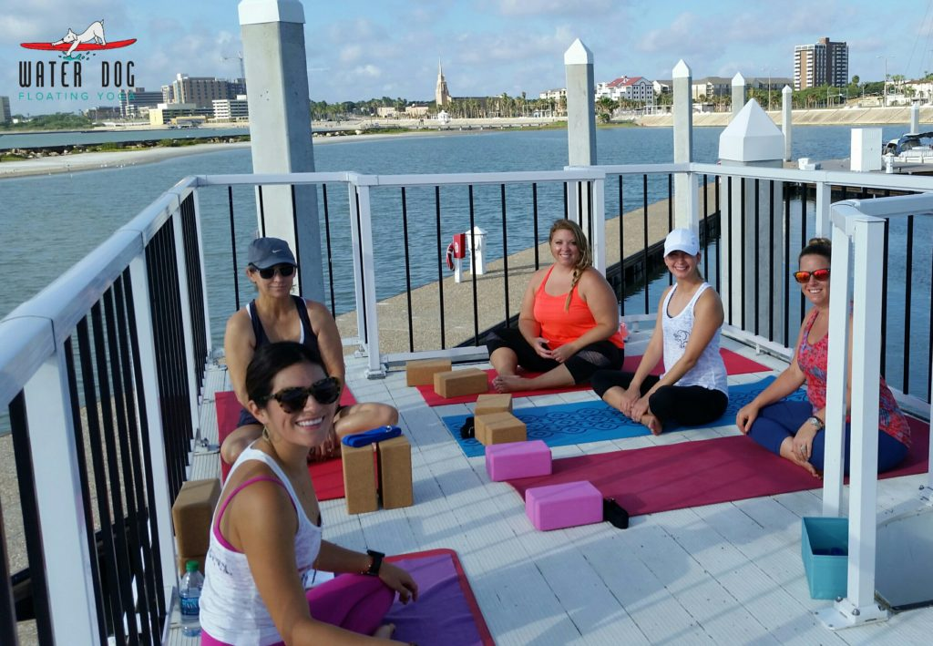 Fun things to do in Corpus Christi, Water Dog Floating Yoga