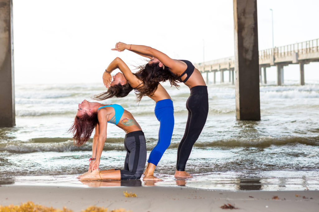 Outdoor yoga in Corpus Christi, TX at Water Dog
