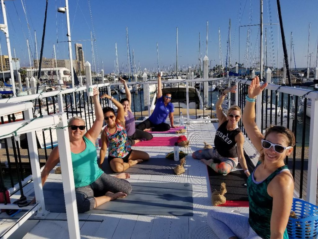 Mat Pilates in Corpus Christi Texas at Water Dog