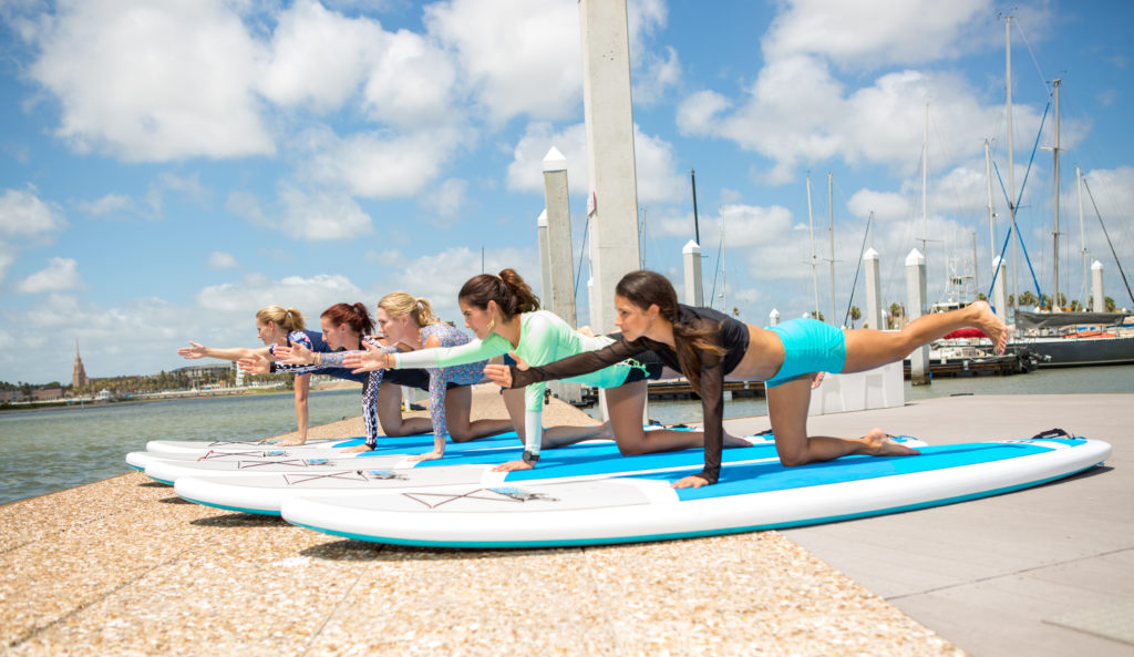 Corpus Christ Yoga on the water
