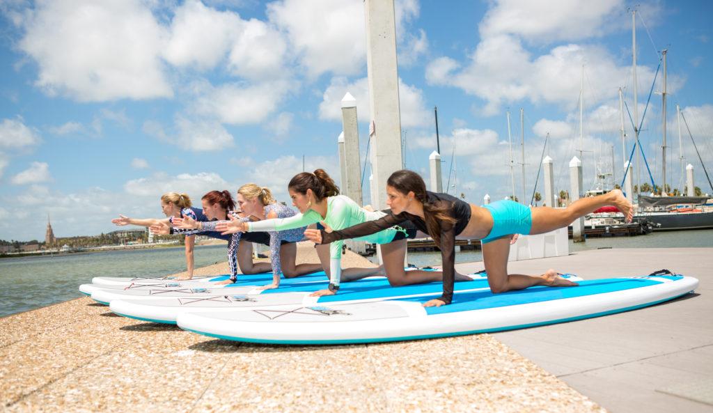 Corpus Christ Yoga on the water