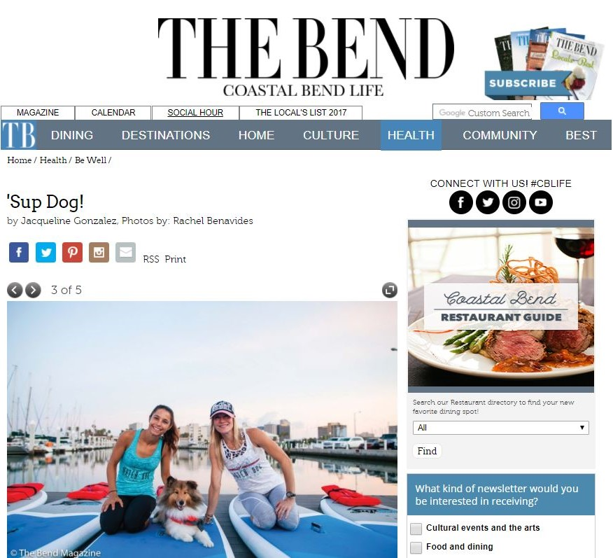 The Bend Magazine and Water Dog Floating Yoga