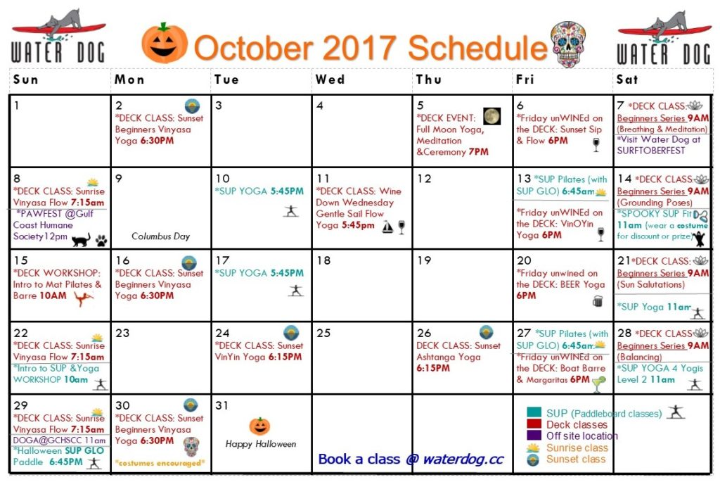 Calendar for Water Dog CC