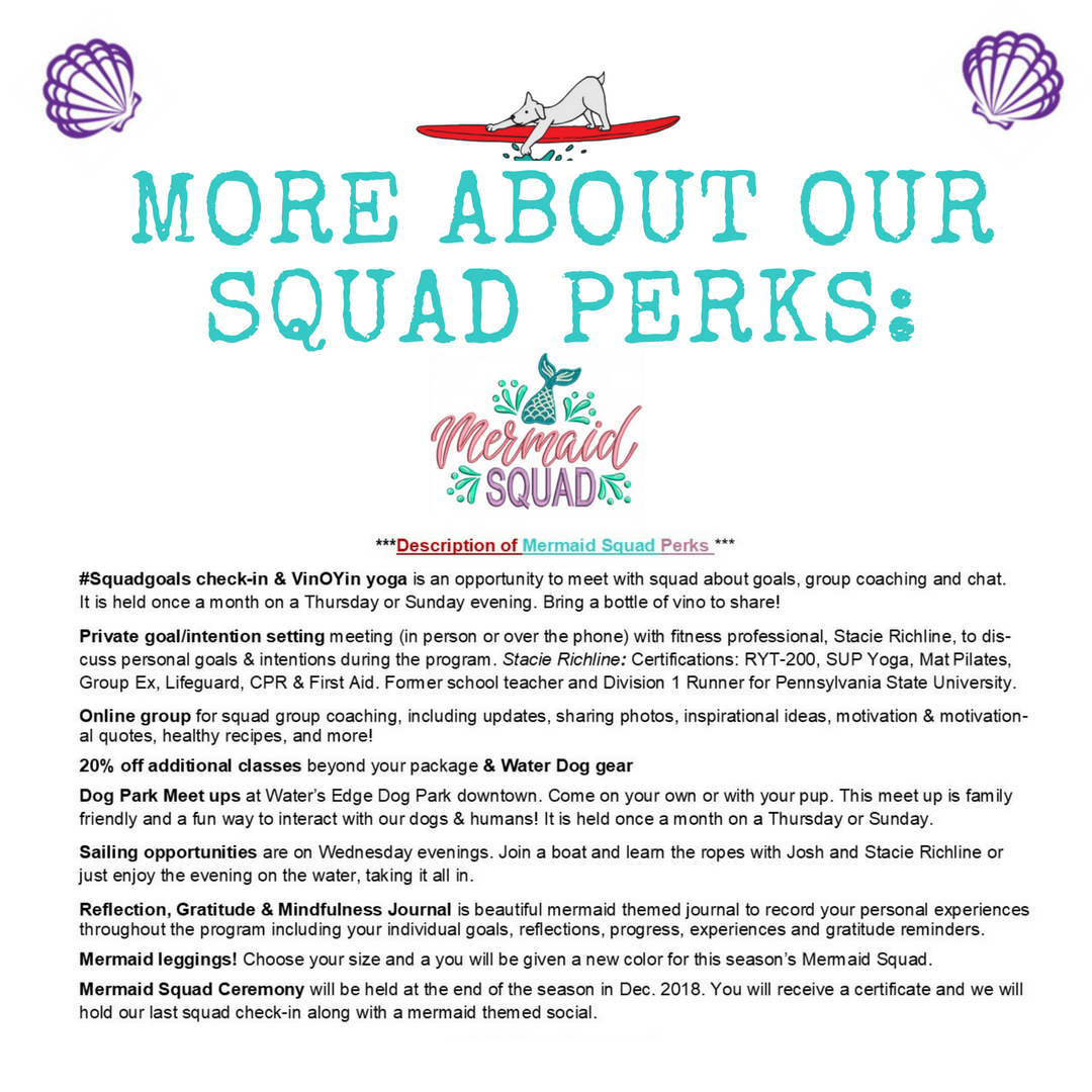 Mermaid squad perks Water Dog CC