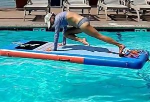 Pool SUP Fitness classes with Water Dog at Sante Fe Poo